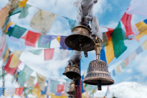 Fotografia  Prayer bell at Changla India