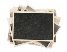 Blank Vintage Photo Paper Isol...