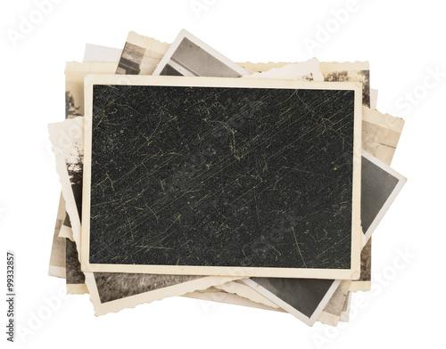 Photo sur Aluminium Retro Blank vintage photo paper isolated