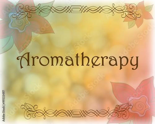Vintage aromatherapy background Canvas Print
