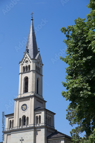Fotografia, Obraz  Church Tower in Constance, Germany