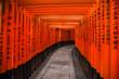 Leinwanddruck Bild - Fushimi Inari shrine in Kyoto, Japan