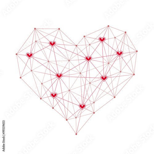 technology network design red heart with dot heart line on white Soho Wireless Network Design Diagrams technology network design red heart with dot heart line on white background