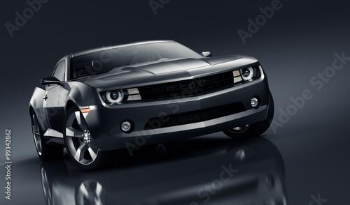 Black sports car Fototapeta
