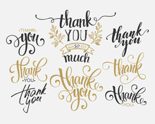 Set Of Custom THANK YOU Hand L...