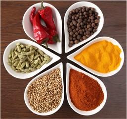 Panel Szklany Przyprawy Aromatic spices.
