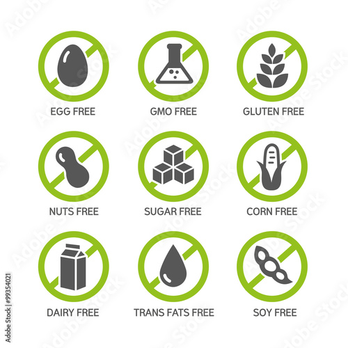 Allergens Icons Wallpaper Mural