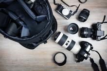 Photographer's Equipment On Th...