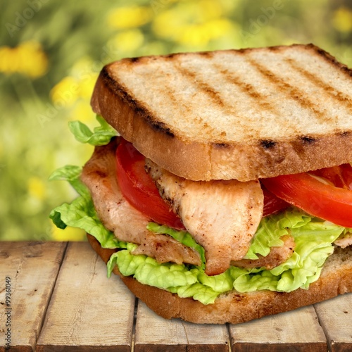 Staande foto Snack Bacon Lettuce And Tomato.