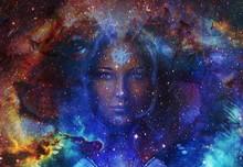 Beautiful Painting Goddess Wom...
