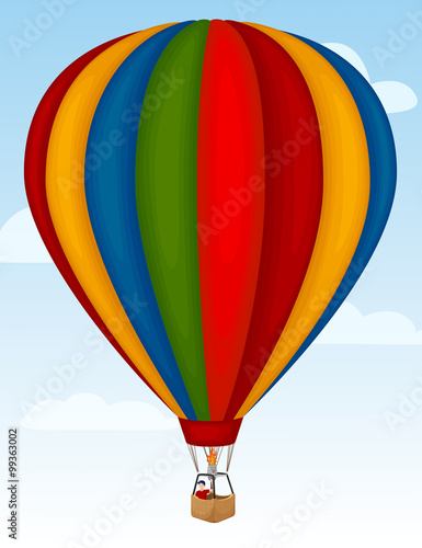Fotografie, Obraz  Vector illustration of a hot air balloon.