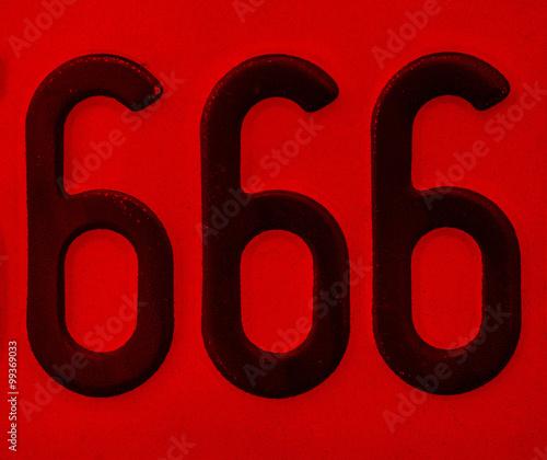 Number 666 Wallpaper Mural