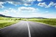 Leinwanddruck Bild - asphalt road in Tuscany, Italy