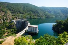 View Of Dam At Sil River.  Galicia