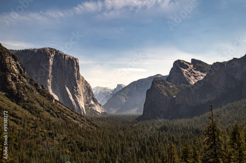 Tunnel View over look Yosemite National Park Poster