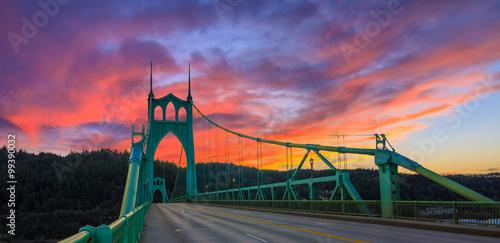 Canvas Prints Bridge St. John's Bridge in Portland Oregon, USA