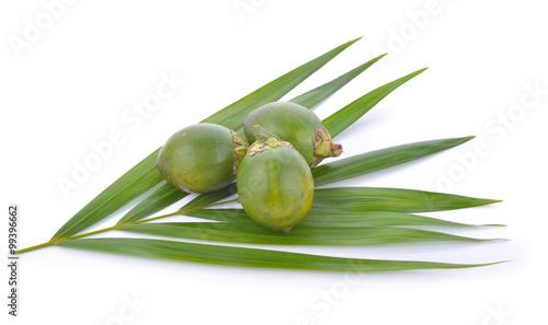Photo Areca nut on white background