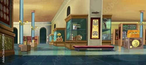 Valokuvatapetti Museum interior. Image 01