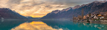 Sunset At Lake Brienz, Switzer...