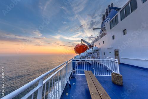 Fotografie, Obraz  Nautical Ferry Deck