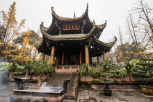 Ancient Taoist Architecture In Qingyang Temple-Chengdu,China