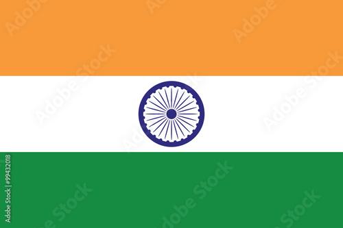 Flag of India illustration 3 stylish colors