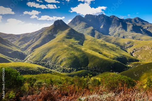 Poster Afrique du Sud Blick auf den Montagu Pass; Outeniqua-Berge; Südafrika