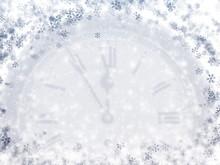 Winter Clock , Frozen Time Bac...
