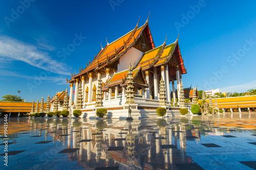 Poster Bangkok Temple in Bangkok Wat Suthat, Thailand.