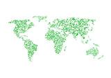 Green world map - 99441831