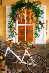 Fototapeta na wymiar autumn decoration of an interior