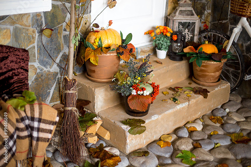 Aluminium Prints autumn decoration of an interior