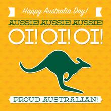Typographic Retro Australia Day Card In Vector Format.