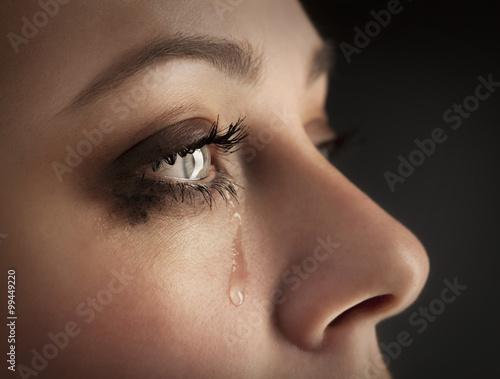 beauty girl cry Fototapeta