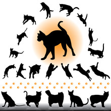 Cat Silhouettes Set