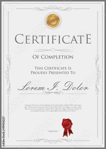 Fotografía  Certificate or diploma template