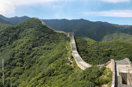 In de dag China Great Wall of China in Summer