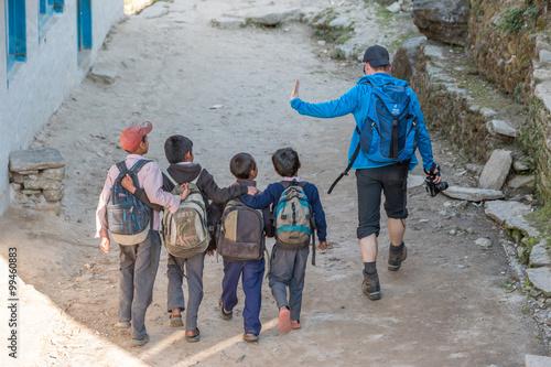 Staande foto Nepal Nein ich habe nichts