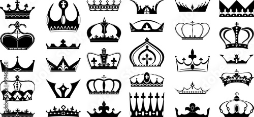 Fotografie, Obraz  Crown design set - 30 pcs.