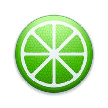 Lime Lemon Fruit Button