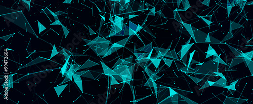 Obraz Abstract digital background with cybernetic particles - fototapety do salonu