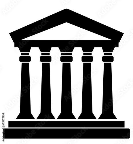 Canvas Temple à colonnes