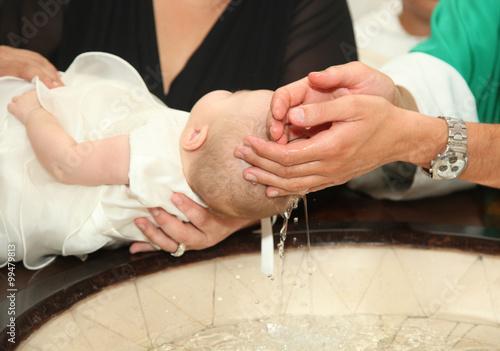 Stampa su Tela Newborn baby baptism