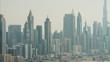 Aerial Dubai Burj Khalifa Skyscraper desert Persian Gulf UAE