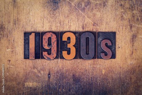 Fotografia  1930s Concept Wooden Letterpress Type