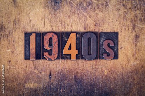 Fotografia  1940s Concept Wooden Letterpress Type