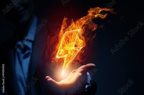 Canvas Prints Flame Lightning bright icon