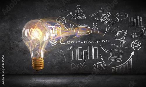 Fotografía  Bright idea for business growth