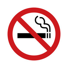 No Smoking Sign / Symbol Flat ...