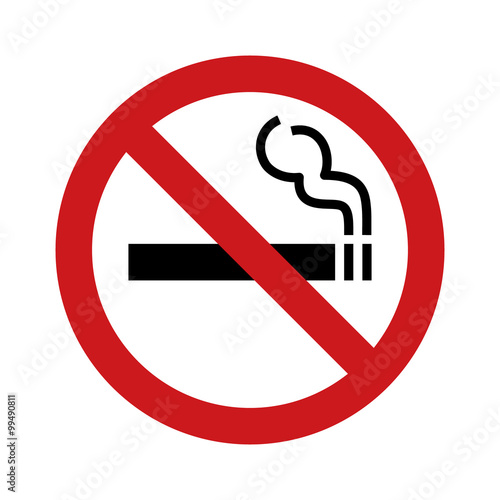 Fotomural No smoking sign / symbol flat icon for websites and print